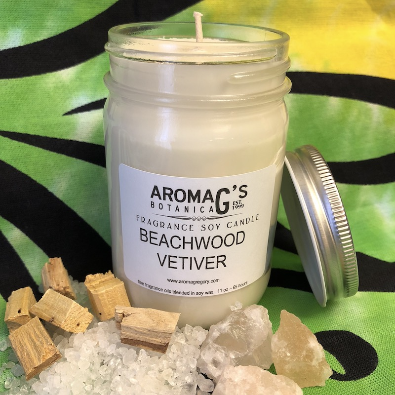beachwood vetiver soy candle