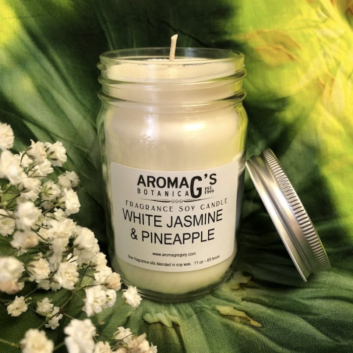 White Jasmine and Pineapple Soy Candle