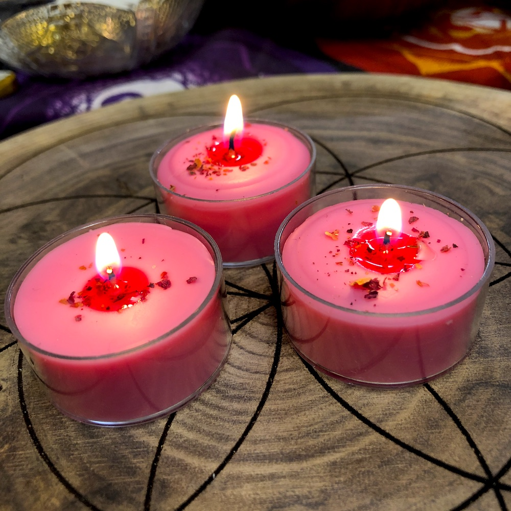 Love Tea Light Soy Candles Aromag S Hoodoo Witch Store Metaphysical Shop