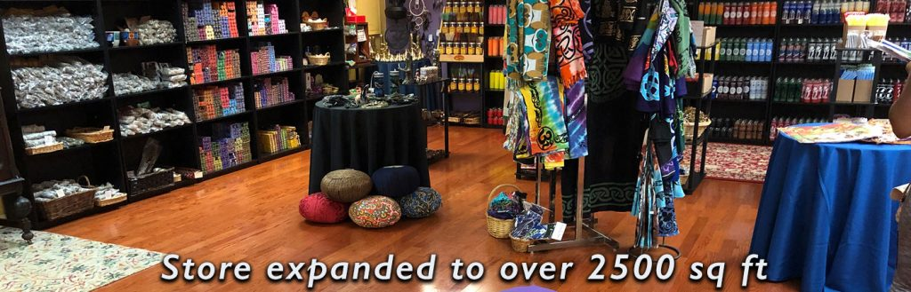 Spirit Room of our Nashville location, showcasing hoodoo, witchcraft, wicca and other spiritual supplies