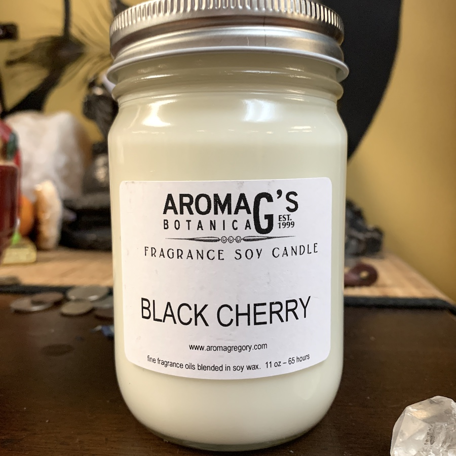 black cherry soy candle
