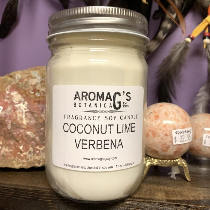 coconut lime verbena soy candle