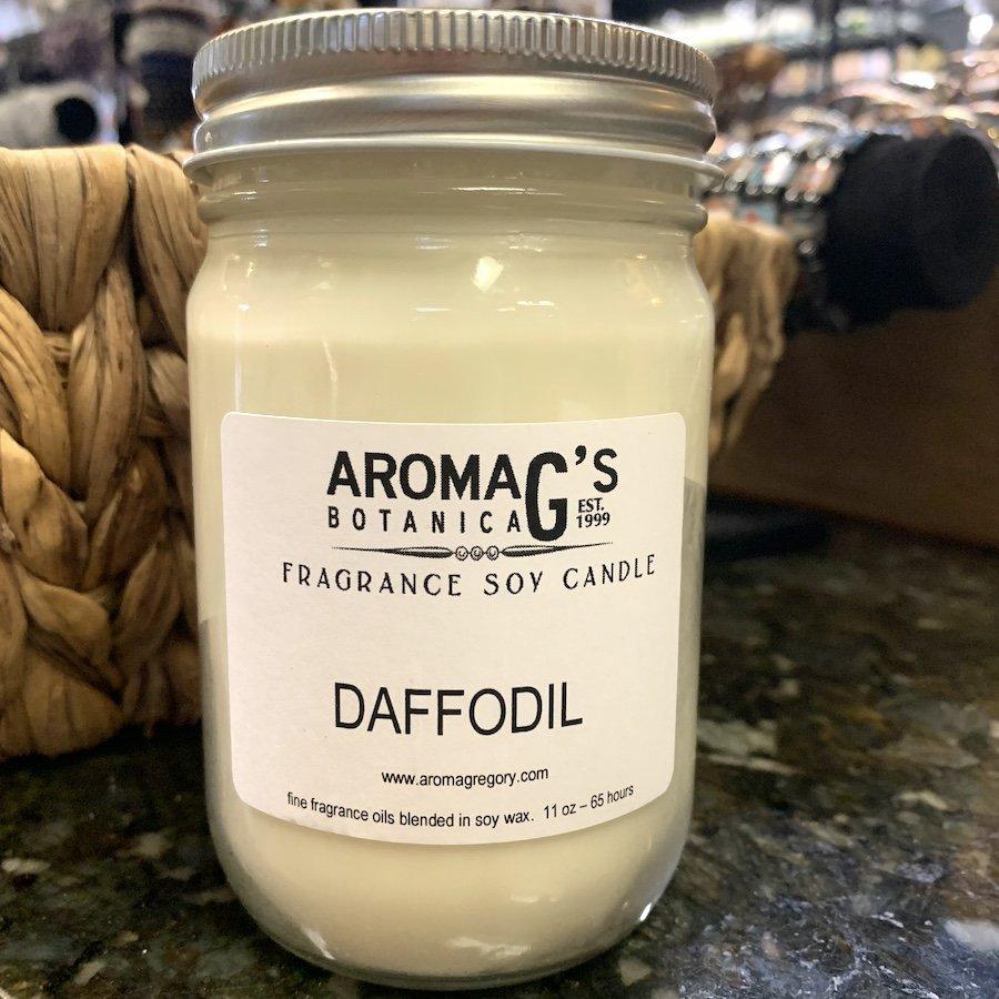 daffodil soy candle