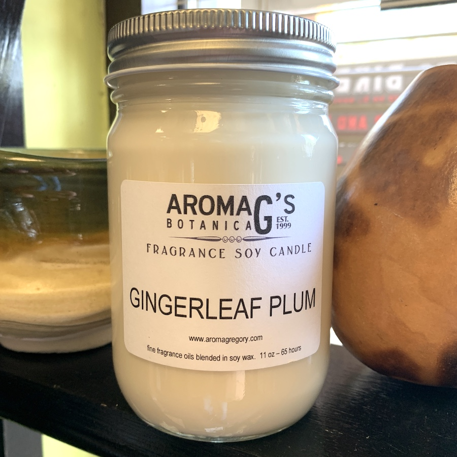 gingerleaf plum soy candle