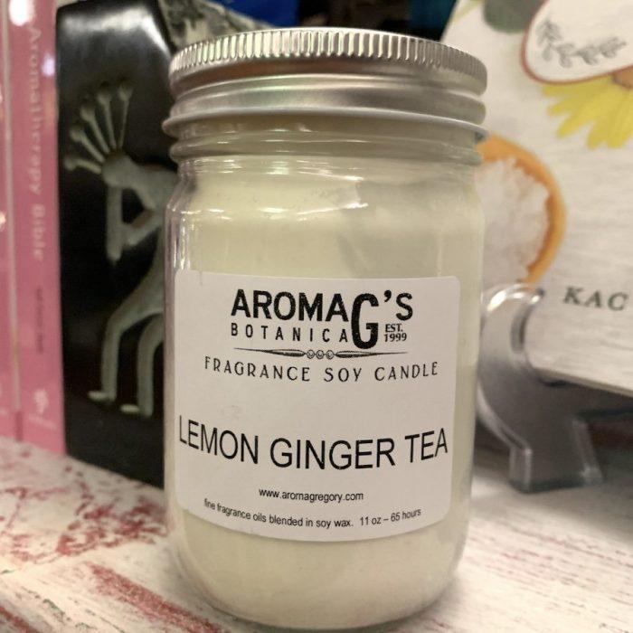 lemon ginger tea soy candle