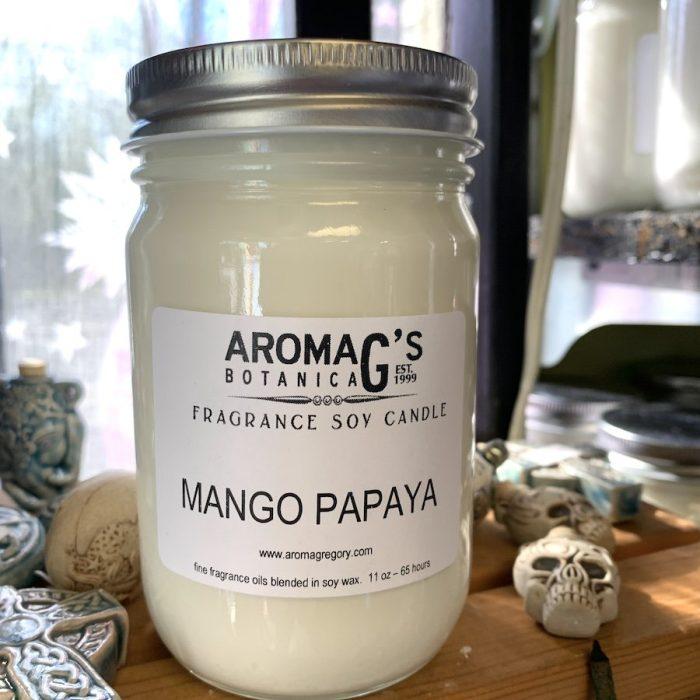 mango papaya soy candle
