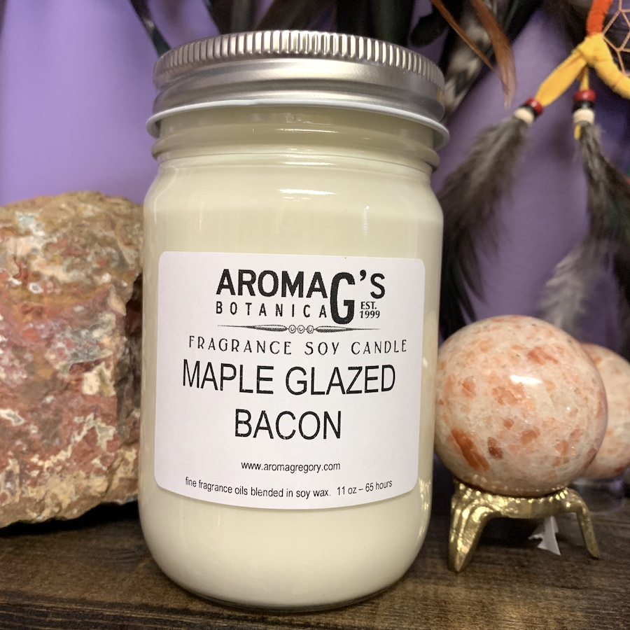 maple glaze bacon candle