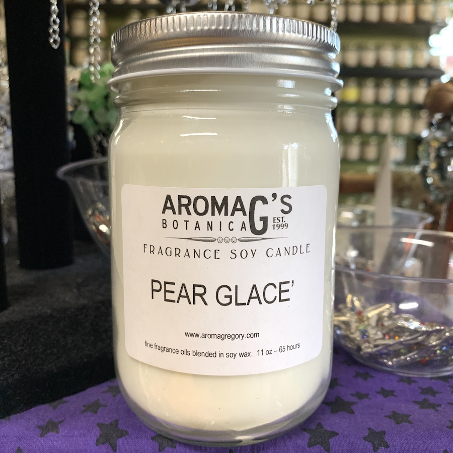 pear glace soy candle