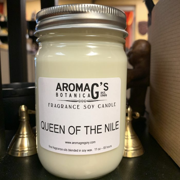 queen of the nile soy candle