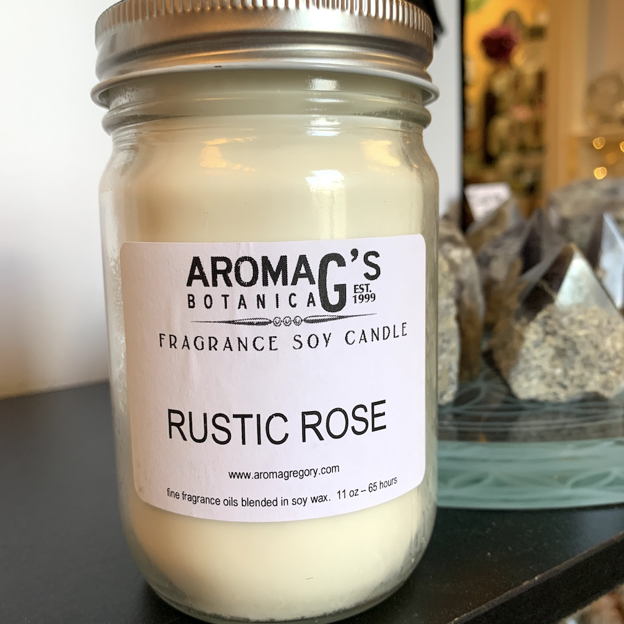 rustic rose soy candle