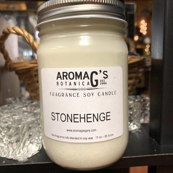 stonehenge soy candle