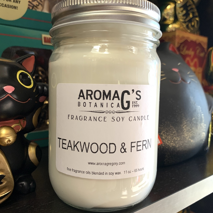 Teakwood & Fern Soy Candle