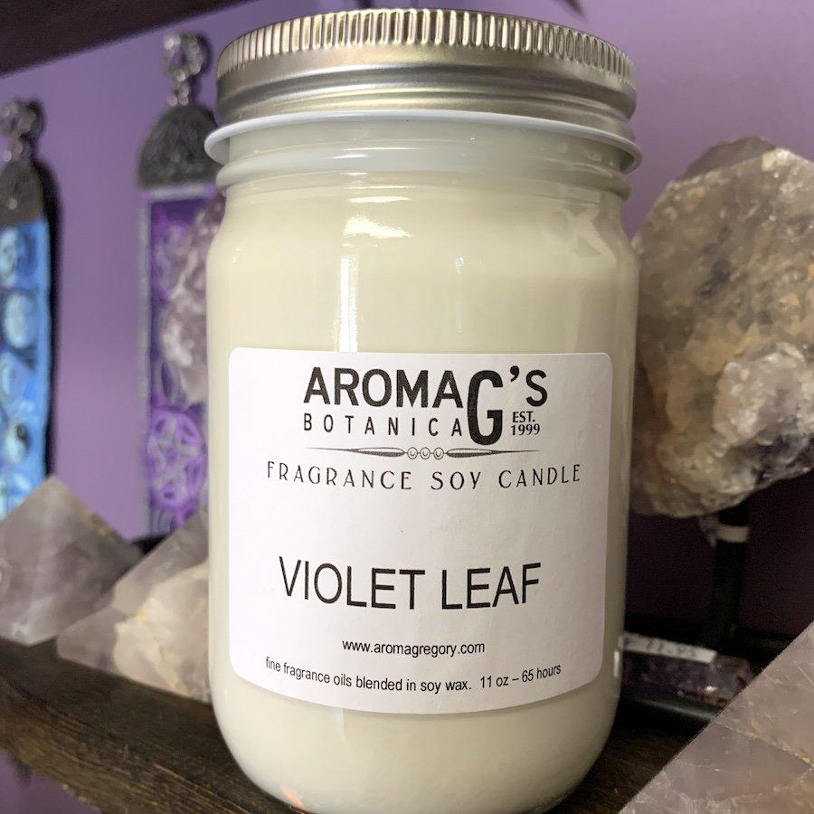 Violet Leaf Soy Candle