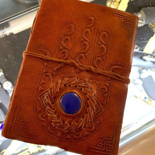 hamsa leather journal