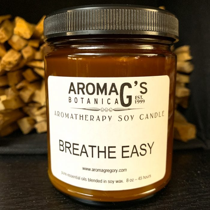 breathe easy aromatherapy candle