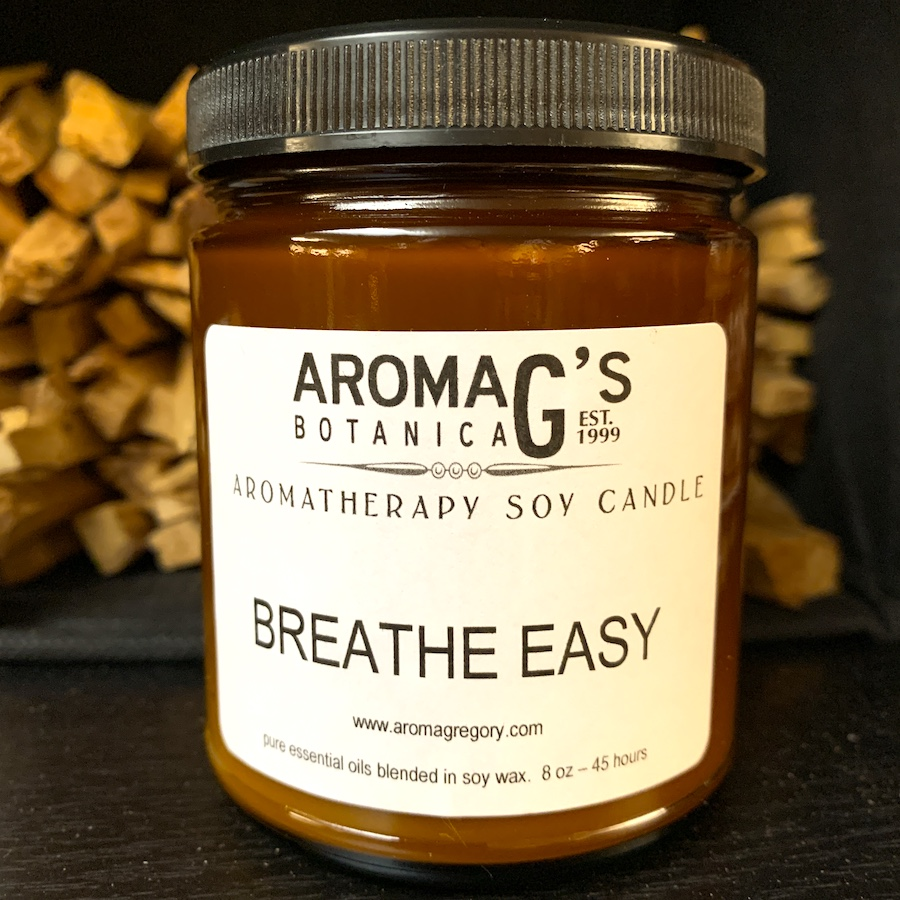 breathe easy aromatherapy candle