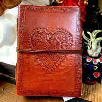 heart veve leather journal