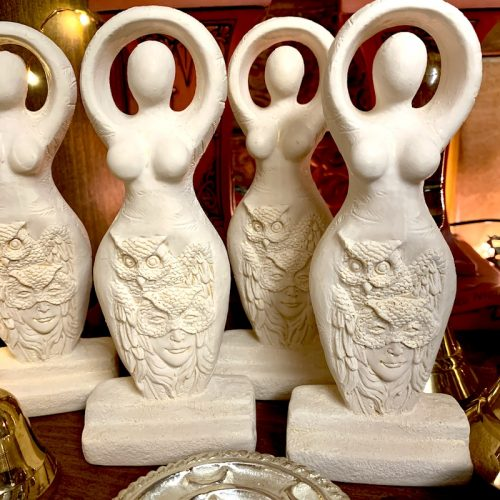 goddess statue owl