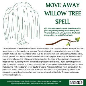 willow tree hoodoo spell