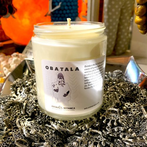 Obatala Orisha candle