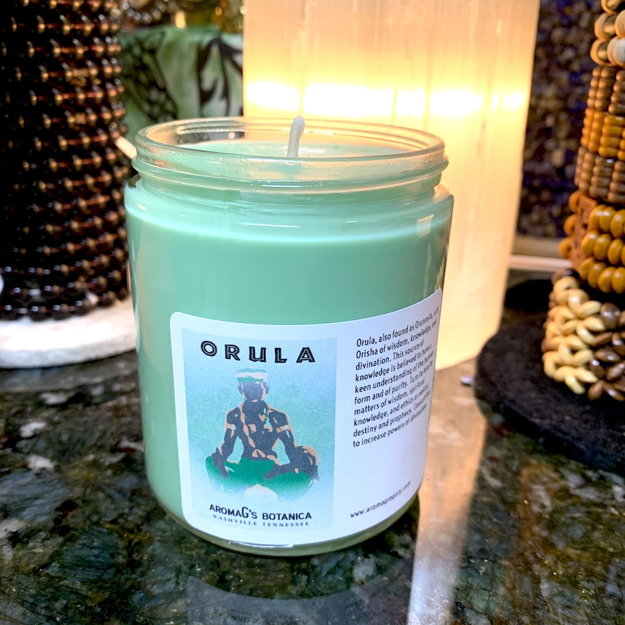 Orula Orisha candle