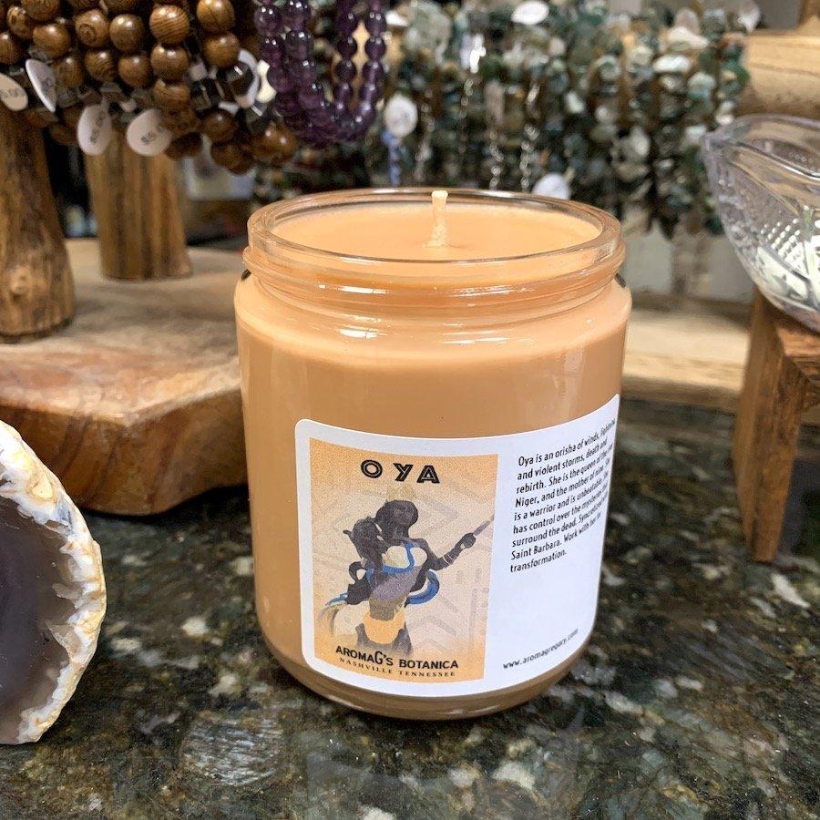 Oya Orisha candle